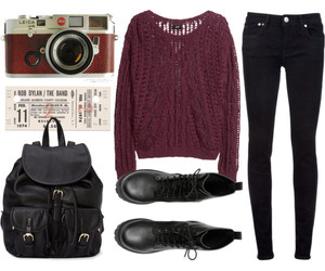 outfit, bag, and camera image