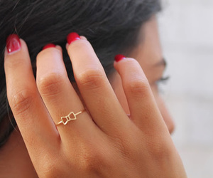 ring, bow, and fashion image