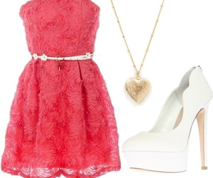 accessory, dress, and pink image