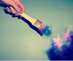 galaxy, paint, and magic image