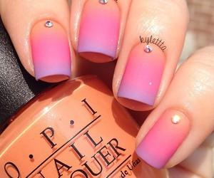 nails, girly, and nail art image