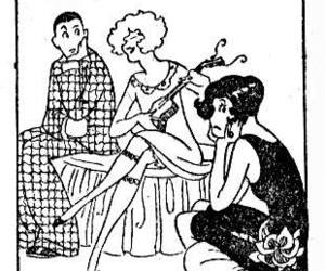 1920s, comic, and flapper image