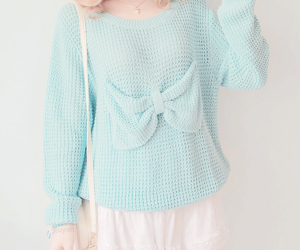 bow, fashion, and sweater image