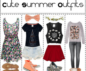 bow, outfits, and summer outfits image