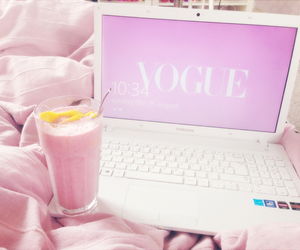 vogue, pink, and smoothie image