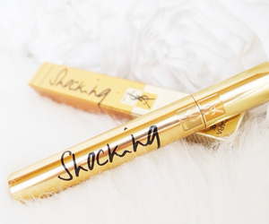 gold, mascara, and YSL image