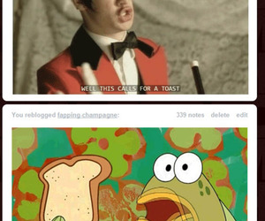 brendon urie, sponge, and toast image