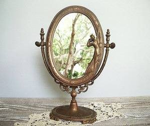 mirror, old, and trees image