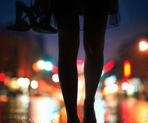 night, shoes, and street image