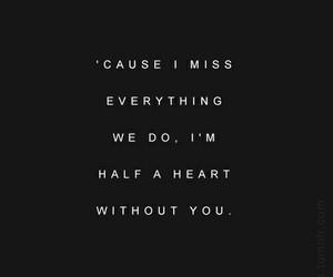 black and white, i miss you, and Lyrics image
