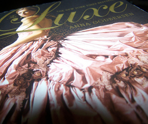 ballgown, book, and dress image