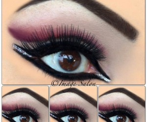 cool, eyes, and makeup image