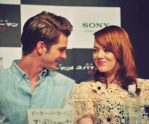 emma stone, andrew garfield, and cute image