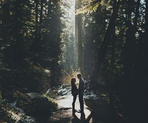 couple, nature, and vintage image