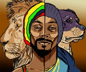 lion, snoop dogg, and snoop lion image