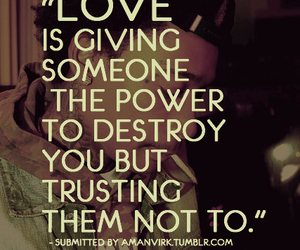 trust, quote, and love image