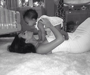 kim kardashian, baby, and north west image