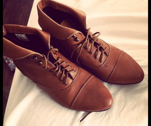 brown, brown shoes, and fashion image