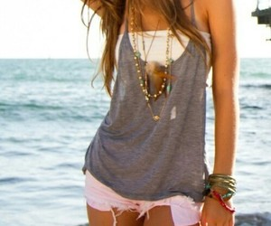 beach, fashion, and clothes image