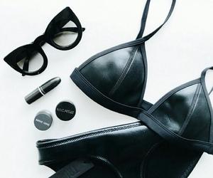 bikini, black, and clothes image