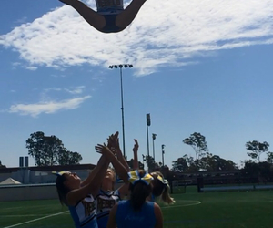 cheer and basket toss image