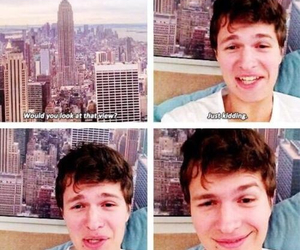 ansel elgort, funny, and tfios image