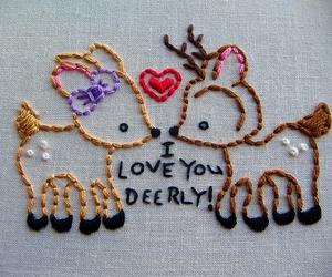 deer, cute, and love image