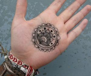 hand, henna, and art image
