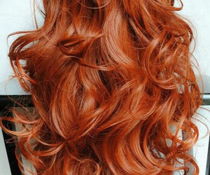 beautiful, red head, and hair image