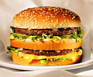 food, burger, and big mac image