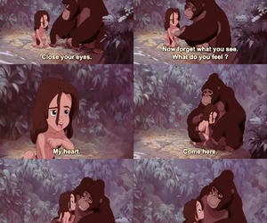 tarzan, disney, and heart image