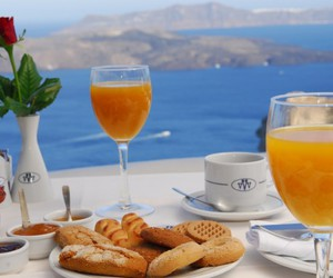 blue, white, and breakfast image