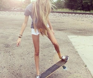 blonde, skater, and casual image