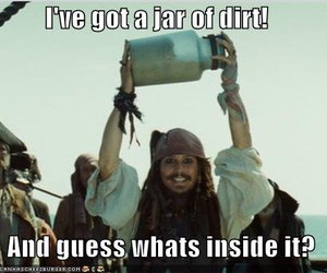 jack sparrow and i've got a jar of dirt image