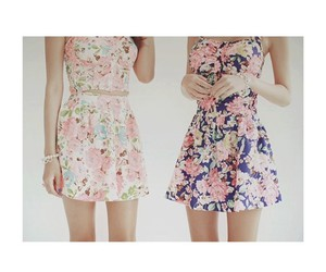 dresses, fashion, and flowers image