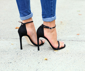 jeans, shoes, and black image