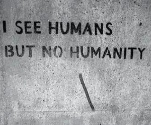 black and white, humanity, and humans image