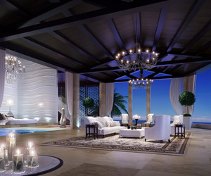 chandelier, luxury, and vacation image