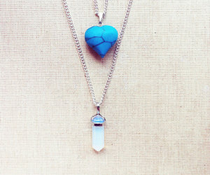 heart necklace, delicate necklace, and fashion necklace image