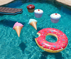 donut, ice cream, and summer image