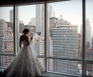 dress, bride, and city image