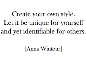 Anna Wintour, style, and create image