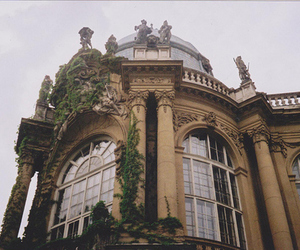 architecture, building, and vintage image