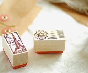 paris, cute, and stamp image