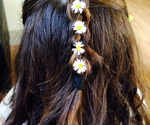 flowers, hairstyle, and hair image