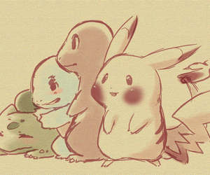 pokemon, pikachu, and squirtle image