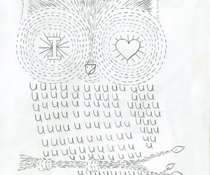 doodles, owl, and love image