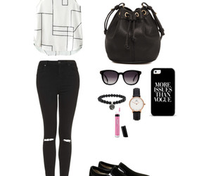 bag, blackandwhite, and chic image