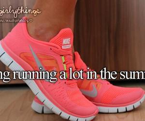 summer, running, and justgirlythings image