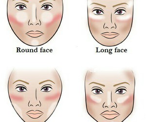 makeup, face, and contour image